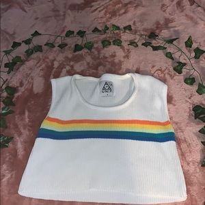 COPY - UNIF ribbed rainbow crop top